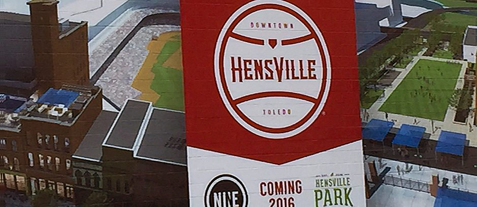 Hensville sign at Fifth Third Field