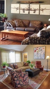 Carolyn Beyersdorf Residential Interior Design Toledo Sylvania Great Room before and after mmt