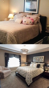 Carolyn Beyersdorf Residential Interior Designer Toledo Perrysburg Master Bedroom before and After